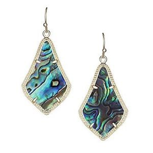 Kendra Scott Alex Earrings in Gold and Abalone